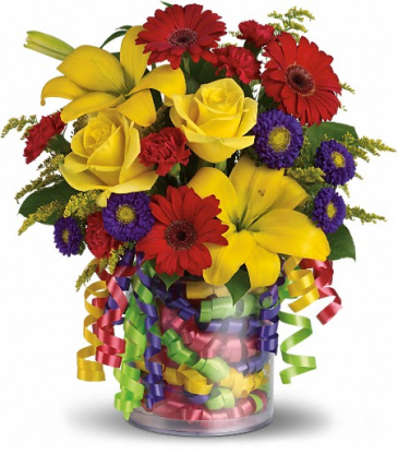 Surprise! Happy birthday bouquet