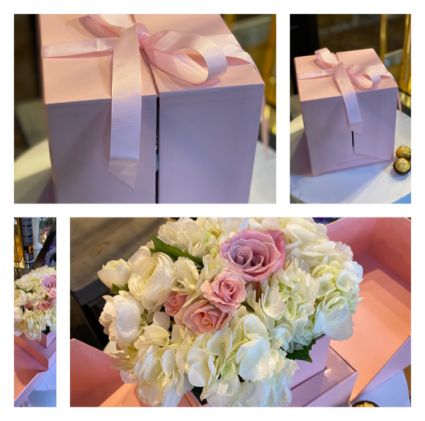 Surprise Me Floral Box In Blush Pink Luxe Floral Box