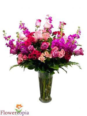 Surprise!!! Mixed Flower Arrangement in Miami, FL | FLOWERTOPIA