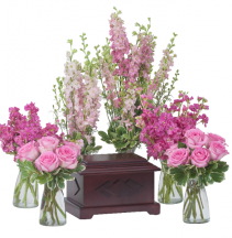 Surrounded by Love in Pink Memorial Arrangement