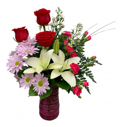 Surrounded by Love Vase Arrangement