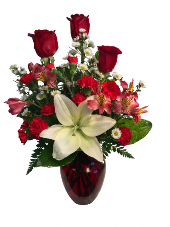 Surrounded by Love Valentine Arrangement