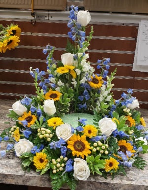 Surrounded In Comfort Urn Riser in Port Huron, MI   CHRISTOPHER'S FLOWERS
