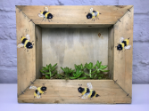 Swarm of Succulents  Hand Painted Wall Mount Planter