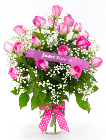 Sweet 16 Rose Arrangement Roses