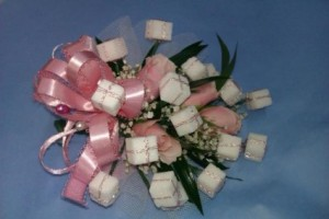 Sweet 16 Sugar Cube Birthday Corsage in Anderson, SC | NATURE'S CORNER FLORIST