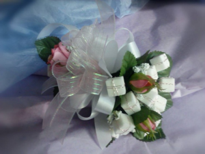 Sweet 16 Sugar Cube Candy Corsage in Anderson, SC | NATURE'S CORNER FLORIST