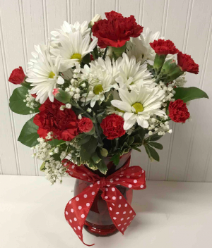 Sweet and Pretty in Red  in Easton, MD | ROBINS NEST FLORAL AND GARDEN CENTER
