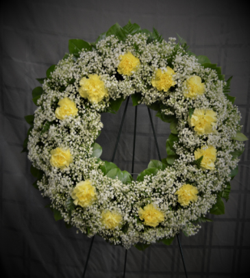 SWEET AND SIMPLE TRIBUTE WREATH STANDING WREATH