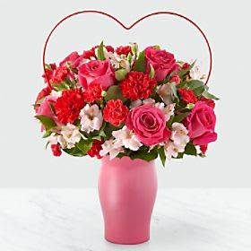 Sweet and Swooning Bouquet Vased Arrangement