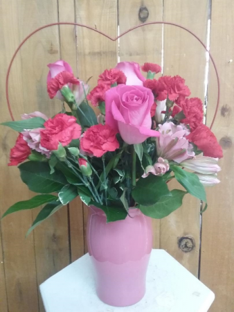 Sweet and Swooning Valentines vase