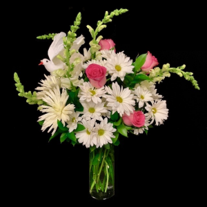 Sweet Angel Pink and White Floral Design in Plainview, TX | Kan Del's Floral, Candles & Gifts