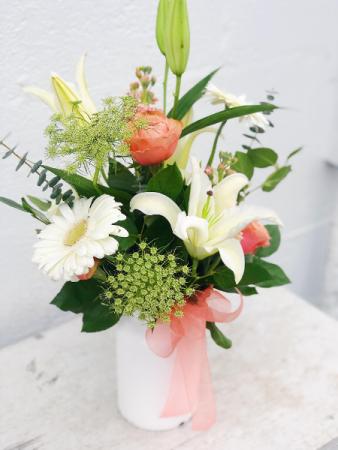 Sweet As A Peach Floral Arrangement