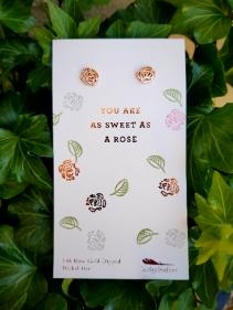 """Sweet as a Rose""  Earrings"