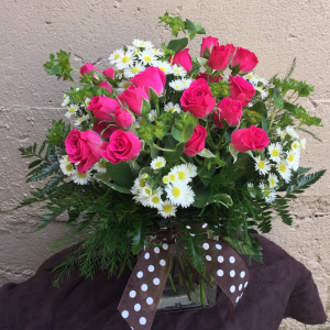 """Sweet As Honey"" Fresh Cut Vased Arrangement in Auburn, AL 
