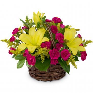 Sweet as Summer Basket Arrangement