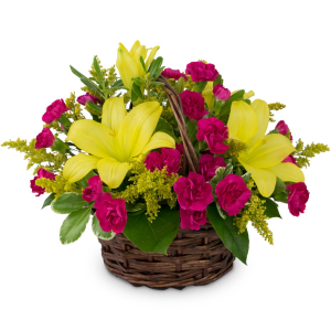 Sweet as Summer Basket Arrangement in Swannanoa, NC | SWANNANOA FLOWER SHOP
