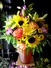 Sunny Day Passion Floral Arrangement