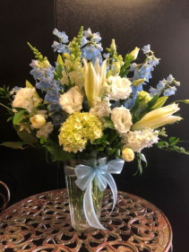 Sweet Baby blue  bouquet for  baby boy