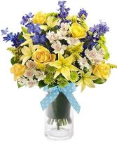 SWEET BABY BOY FLOWER  BOUQUET