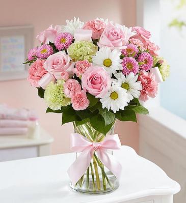Sweet Baby Girl™ Arrangement 159224 Vase Arrangement