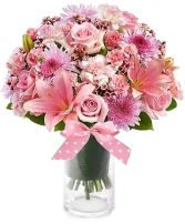 SWEET BABY GIRL FLOWER  BOUQUET