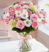 Sweet Baby Girl Mixed Floral Bouquet