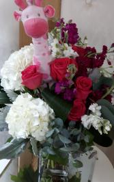 Sweet Baby Girl Vase Arrangement