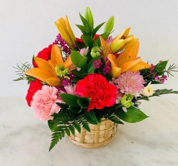 Sweet basket of flowers
