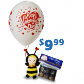 Sweet Bee Candy, Balloon and Doll