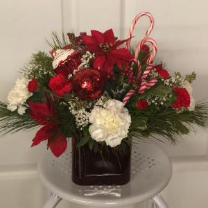 Sweet Candy Cane Surprise  in Jermyn, PA | Debbie's Flower Boutique