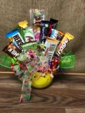 Sweet Treats Smiley Chocolate bar bouquet