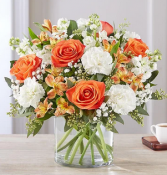 Sweet Citrus Days Mixed Floral Arrangement