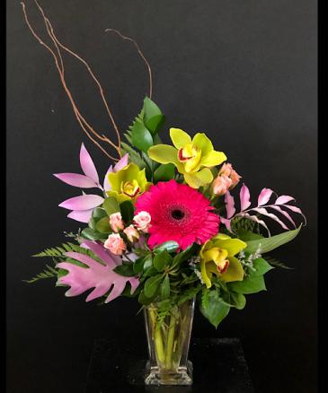 Sweet Delights  Pink/green bud vase