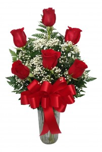 Sweet Devotion Half Dozen Rose Arrangement