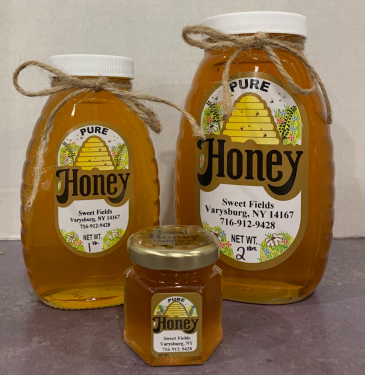 Sweet Fields Honey 2oz Honey Jar