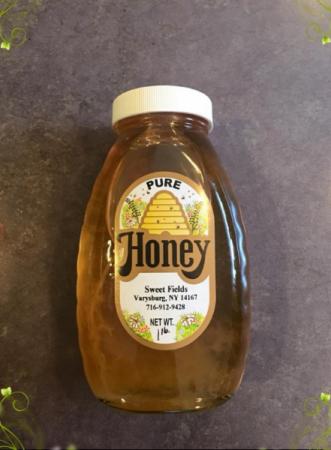 Sweet Fields Honey 1lb Honey Jar