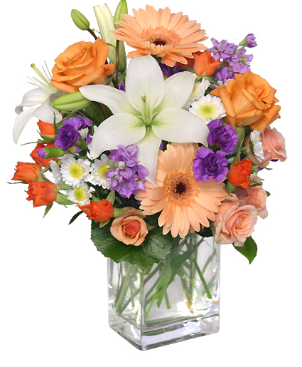 SWEET GEORGIA PEACH Flower Arrangement