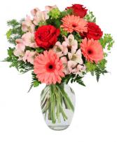 Sweet Gerberas and Roses