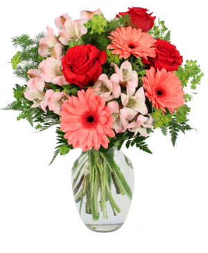 Sweet Gerberas and Roses  in Seabrook, TX | SEABROOK HOUSE OF FLOWERS