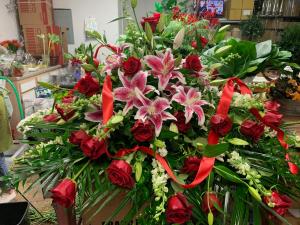 Sweet Goodbye Casket Flowers in Houston, TX | Mary's Little Shop Of Flowers