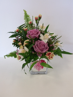 Sweet Heart Cube Actual in Store Photo in North Bay, ON   ROSE BOWL FLORIST