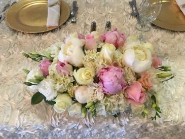 Sweet heart table arrangement