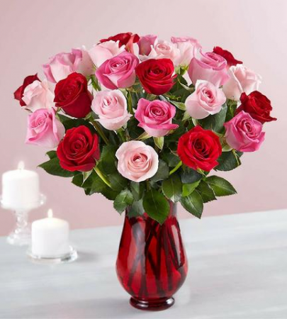 Sweet Hot Love Rose Arrangement