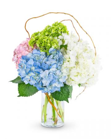 Sweet Hydrangea Flower Arrangement