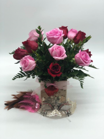 Sweet Kiss  12 Combine roses with mask