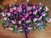 Sweet Lavender Casket Cover