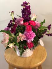 Sweet Lavender Watering Can Arrangement