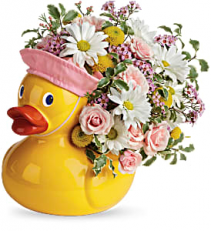 Sweet Little Ducky Pink Bouquet   TNB11-1 Keepsake Arrangement