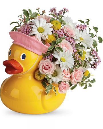 Sweet Little Ducky Flower Arrangement